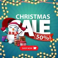 Christmas sale, square discount banner