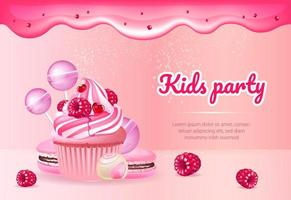 Kids party banner template