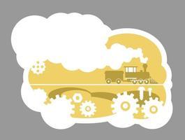 Railroad 2D badge vector