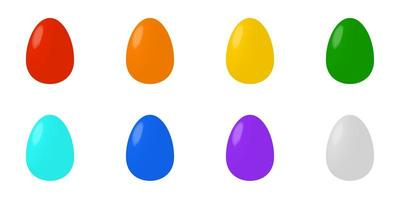 huevos de pascua de color establecen volumen, ocho elementos vector
