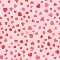 Seamless pattern with hearts on rose background