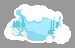 Urban pollution badge vector