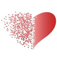 Heart with dispersion effect vector