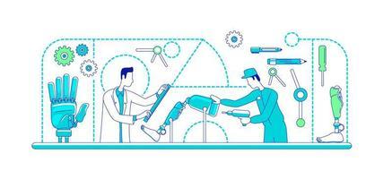 Medical prosthetics assembly line vector
