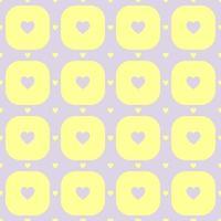 Purple color hearts pattern vector