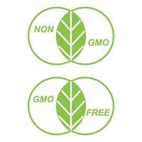 Marking GMO Free vector