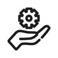 Technical insurance icon vector