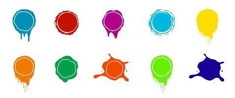 Paint splashes. Color vector