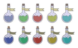 Magic potions set vector