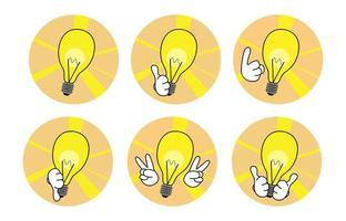 Set of idea icons vector
