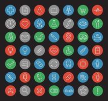 conjunto de iconos lineales de hospital vector