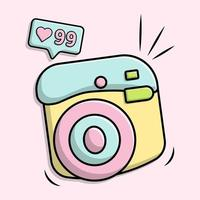 Cute camera with notification vector