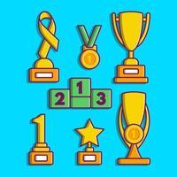 trofeo de dibujos animados vector