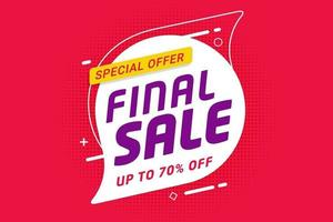 Final sale discount banner template