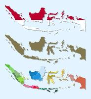 Flat design indonesia map infographic vector