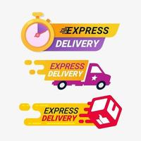 Express delivery service badges vector