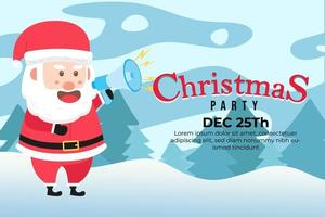 Christmas Party Background with Santa claus