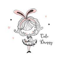 Cute little girl in Bunny ears.