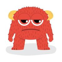 Cute Angry Red Halloween Monster
