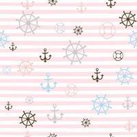 Seamless pattern on a marine theme.