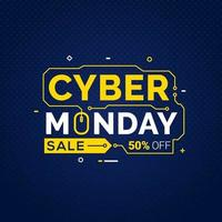 Cyber Monday sale banner template