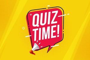 Quiz time banner vector