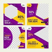 Social media fashion banner ad post templates