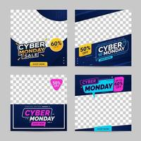 Cyber Monday sale banner social media templates