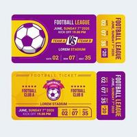 Football entry ticket template vector