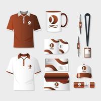 conjunto de maquetas de marca y marketing