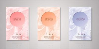 Set of circle frame watercolor covers