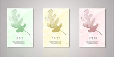 Set of leaf frame watercolor covers