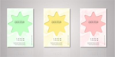 Set of abstract shape watercolor covers