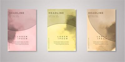 Set of watercolor covers