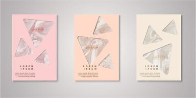 Set of triangle watercolor covers