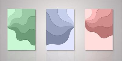 Set of paper layers covers vector