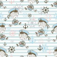 Seamless pattern with cute sailor boys.