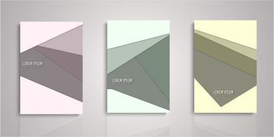 Set of geometric paper cut covers vector