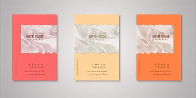 Set of ripped rectangle watercolor covers vector