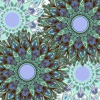 Fondo de mandala de flores de estilo boho colorido
