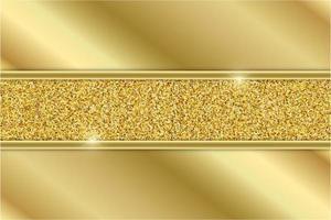 paneles de oro metálico con sección de brillo dorado vector