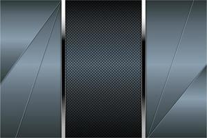 Metallic blue angled panels with carbon fiber texture vector