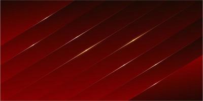 Red luxury panels with golden line modern design. vector
