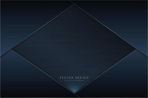 Metallic dark navy panels with carbon fiber diamond vector