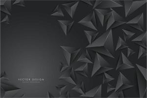 Diseño moderno de triángulos 3d gris oscuro.