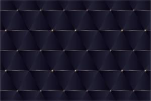 Blue triangles and golden lines modern design. vector