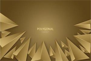 Diseño moderno de triángulos de oro 3d de lujo.