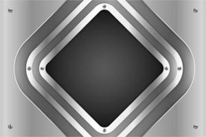 Metallic silver diamond panels with screws vector