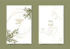 Floral wedding invitation card