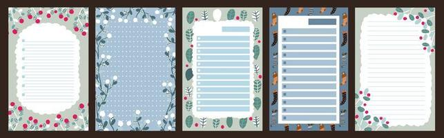 Christmas holiday journal, notepad set